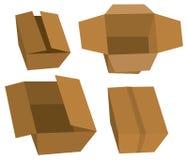 Ensemble de boîtes en carton illustration stock
