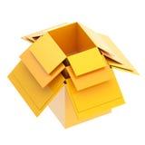 Ensemble de boîtes en carton un intérieur un autre Images libres de droits