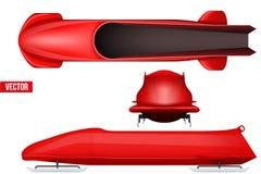 Ensemble de bobsleigh pour quatre athlètes Image libre de droits