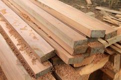 Ensemble de bois de teck Image stock