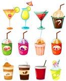 Ensemble de boisson illustration libre de droits