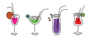Ensemble de boissons Images stock