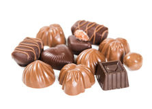 Ensemble de bonbons au chocolat photographie stock libre de droits