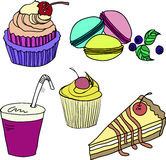 Ensemble de bonbons colorés sur un fond blanc Image libre de droits
