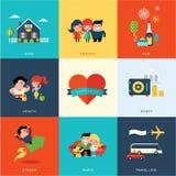 Ensemble de bonheur Photos libres de droits
