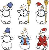 Ensemble de bonhommes de neige Photos libres de droits