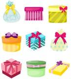 Ensemble de boîtes et de sacs actuels Photo stock