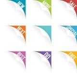 Ensemble de boucle de page Web Photographie stock libre de droits