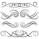 Ensemble de boucles décoratives de vintage, de remous, de monogrammes et de frontières calligraphiques Images stock