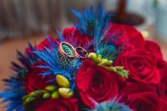 Ensemble de boucles de mariage Images libres de droits