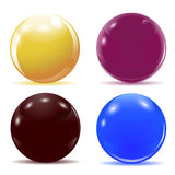 Ensemble de boules brillantes multicolores Illustration Image stock
