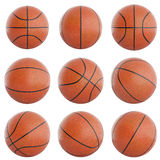 Ensemble de boules de basket-ball Illustration Stock