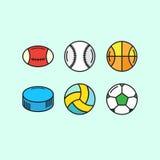 Ensemble de boules de jeu Image stock