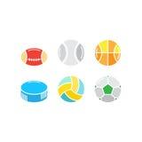 Ensemble de boules de jeu Images libres de droits