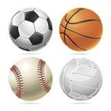 Ensemble de boules de sport. Photos libres de droits