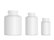 Ensemble de bouteille de pilule de médecine Photos stock