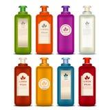 Ensemble de bouteilles cosmétiques illustration stock