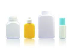 Ensemble de bouteilles en plastique médicales Images libres de droits