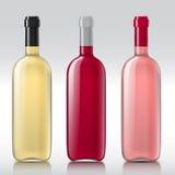 Ensemble de bouteilles en verre réalistes illustration de vecteur