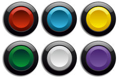 Ensemble de bouton Images stock