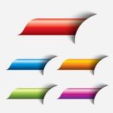 Ensemble de bouton coloré de Web Photos libres de droits