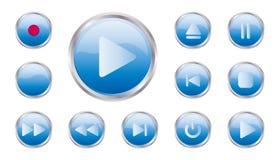 Ensemble de bouton de contrôle de vecteur Images libres de droits