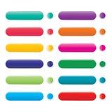 Ensemble de bouton de Web de couleur illustration libre de droits