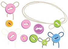 Ensemble de boutons illustration libre de droits