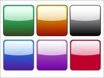 Ensemble de boutons Photo stock