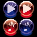 Ensemble de boutons Images libres de droits