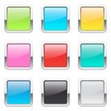 Ensemble de boutons carrés illustration de vecteur