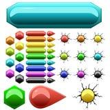 Ensemble de boutons colorés photographie stock libre de droits