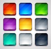 Ensemble de boutons colorés Image stock