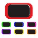 Ensemble de boutons colorés Images stock