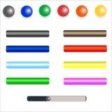 Ensemble de boutons colorés de Web Images libres de droits