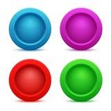 Ensemble de boutons colorés de Web Images stock