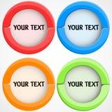 Ensemble de boutons colorés Photos stock
