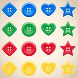 Ensemble de boutons dans différentes couleurs Photo libre de droits