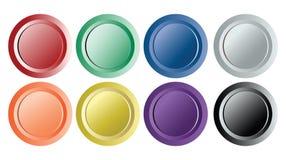 Ensemble de boutons de cru d'isolement sur le blanc Illustration de Vecteur