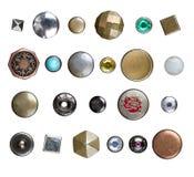 Ensemble de boutons de jeans photographie stock