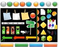 Ensemble de boutons de site Web Image libre de droits