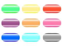 Ensemble de boutons en couleurs les couleurs claires illustration libre de droits