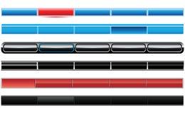 Ensemble de boutons en verre Photographie stock libre de droits