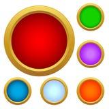 Ensemble de boutons en verre multicolores Images stock
