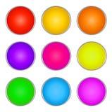 Ensemble de boutons en verre illustration stock