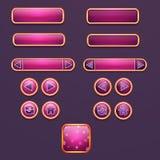 Ensemble de boutons et d'icônes pour la conception illustration de vecteur