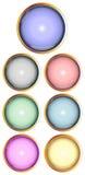 Ensemble de boutons lustrés de Web Image stock