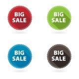 Ensemble de 4 boutons plats d'étoile Image libre de droits