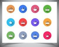 Ensemble de boutons plats de couleur. Photos libres de droits
