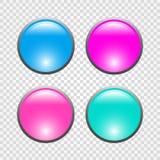 Ensemble de boutons ronds du Web 3d Illustration de vecteur illustration stock